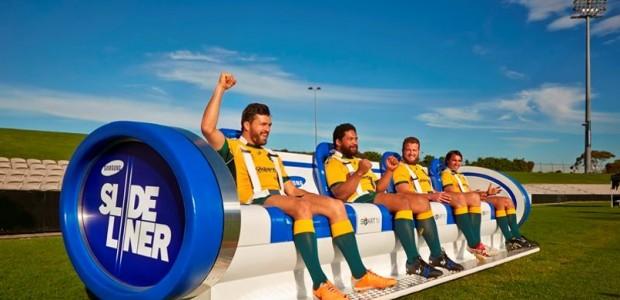 Envie de suivre un un match de rugby sur le terrain dans un canapé révolutionnaire ?